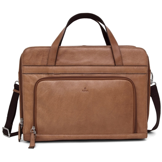 Image of   Adax - Napoli River Working Bag 15,6' - Cognac