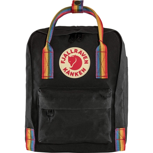 Fjällräven - Kånken Rainbow Mini - Black & Rainbow