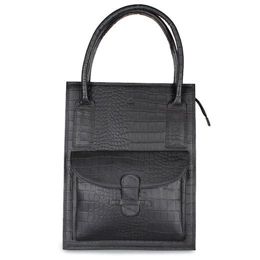 Image of   Adax - Ragusa Tina Shopper 242245 - Black Croco