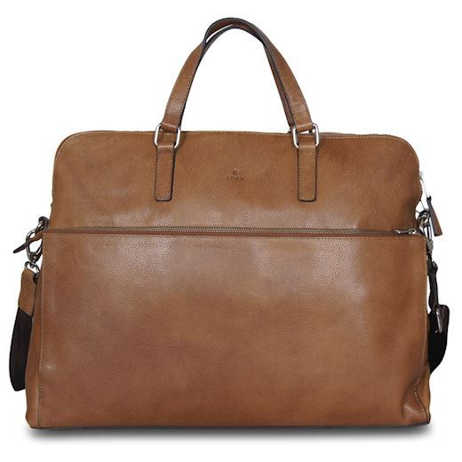 "Image of   Adax - Napoli Michelle 17"" Working Bag 271325 - Cognac"