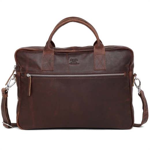 "Image of   Adax - Catania Tobias 13"" Briefcase 277546 - Dark Brown"
