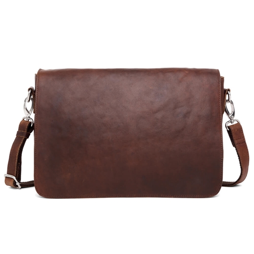 Image of   Adax - Catania Pilou Messenger Bag - Dark Brown