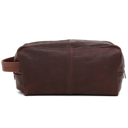 Image of   Adax - Catania Brian Wash Bag - Dark Brown
