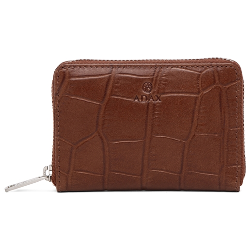 Image of   Adax - Teramo Cornelia Wallet - Brown/Silver