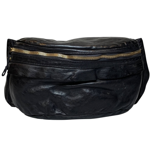 Image of   Campomaggi - Bum Bag Large - Black & Gold