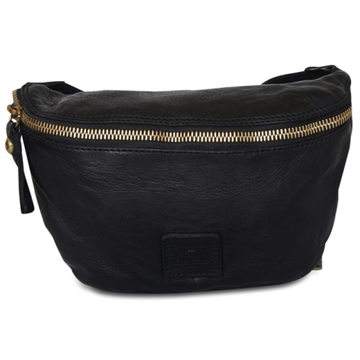 Image of   Campomaggi - Bum Bag Small - Black & Gold