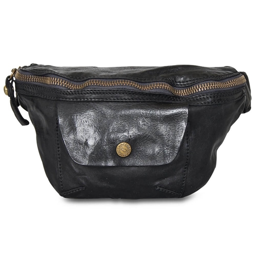 Image of   Campomaggi - Bum Bag with pocket - Black