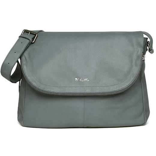 Image of   Il Tutto - Ryder Leather Baby Satchel Bag - Denim
