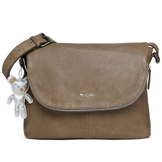 Image of   Il Tutto - Ryder Leather Baby Satchel Bag - Ochre